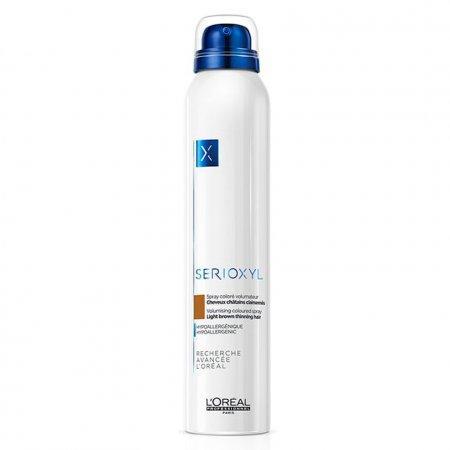 Loreal Serioxyl, spray wzmacniający włosy, jasny brąz, 200ml