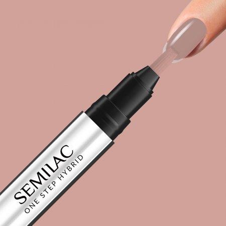 Semilac One Step Hybrid, lakier hybrydowy w markerze, 3ml, S210 French Beige