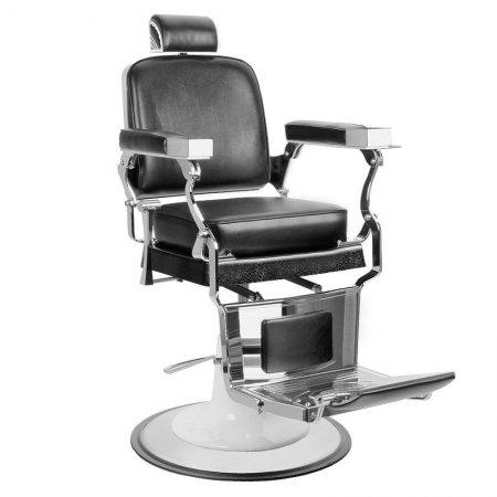 Fotel barberski Gabbiano Prince, czarny