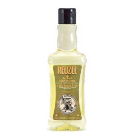 Reuzel 3in1 Tea Tree, żel pod prysznic/szampon/odżywka, 350ml