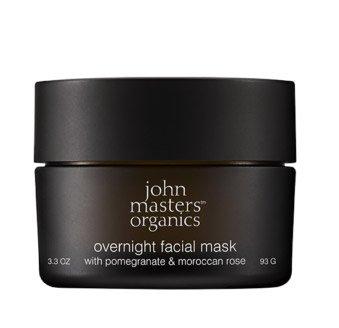 John Masters Organics, maska do twarzy na noc, Granat i Róża, 93g