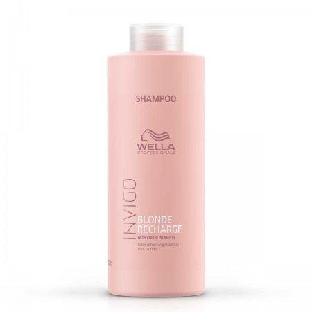 Wella Invigo Blonde Recharge, szampon ochładzający kolor, 1000ml