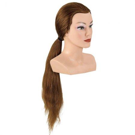 Bergmann główka treningowa Lady Long, średni blond, 100% naturalne włosy, 60cm, ref. 091030