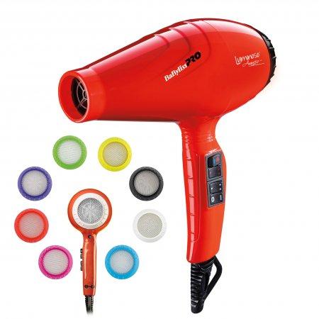 BaByliss Pro Luminoso Arancio, suszarka do włosów, 2100W, BAB6350IOE