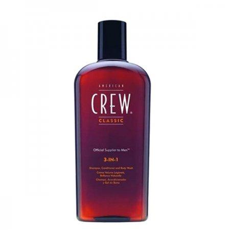 American Crew Classic, 3w1 szampon + odżywka + żel do kąpieli, 250ml