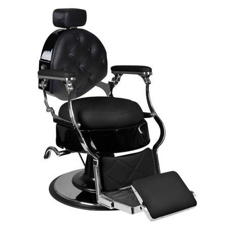 Fotel barberski Gabbiano Ettore, czarny