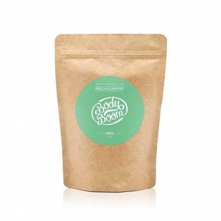 Peeling kawowy do ciała, Rześka Mięta BodyBoom, 200g - krótka data ważności (7.2019)