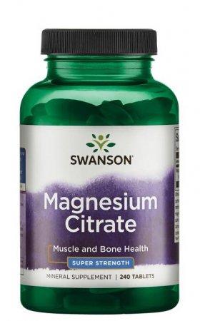 Swanson, cytrynian magnezu, 240 tabletek