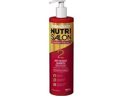 NutriSalon Brazilian Keratin, szampon oczyszczający, krok 2, 500ml