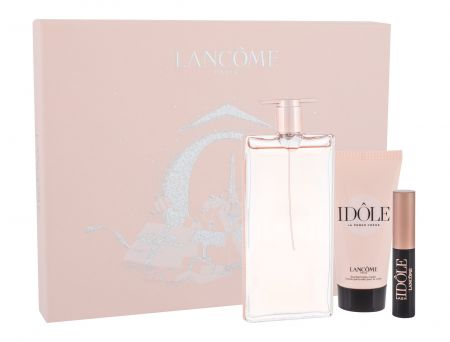 Lancôme Idole, zestaw: Edp 50 ml + Krem do ciała 50 ml + Tusz do rzęs Lash Lifting Mascara 2,5 ml 01 Glossy Black (W)