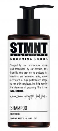 STMNT, oczyszczający szampon do włosów z węglem aktywnym, 300ml