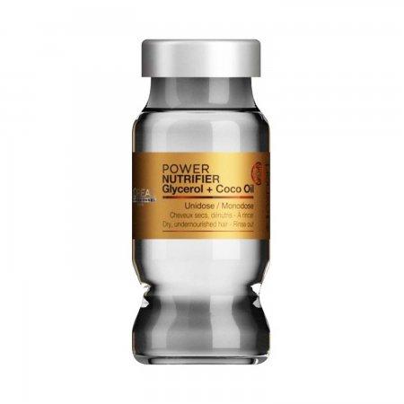 Loreal Nutrifier, kuracja do włosów zniszczonych, ampułka, 10ml