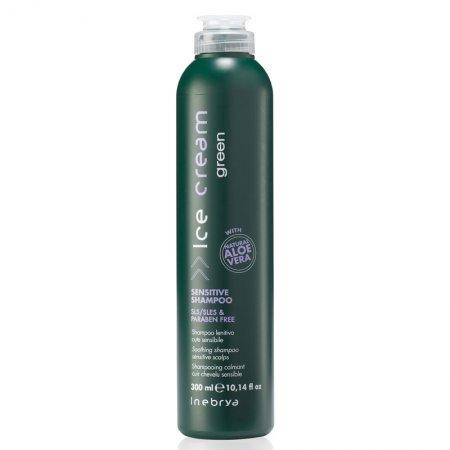 Inebrya Green Scalp Sensitive, szampon do wrażliwej skóry, 300 ml