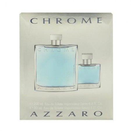 Azzaro Chrome, zestaw perfum EDT 200ml + 30ml EDT (M)