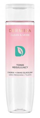 Dermika Clean&More, regulujący tonik cykoria + kwas glikolowy, 200ml