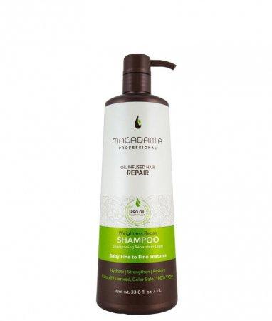 Macadamia Professional Vege, szampon do włosów cienkich, 1000ml