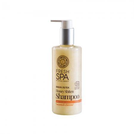 Natura Siberica Fresh SPA, regenerujący szampon do włosów farbowanych Miodowy Zbiteń, 300ml