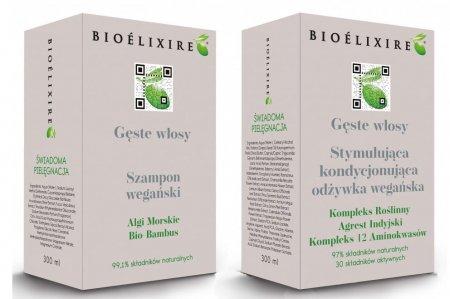 """Bioelixire, zestaw przeciw wypadaniu włosów """"Gęste Włosy"""", 2x300ml"""