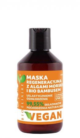 Bioelixire Vegan, maska regeneracyjna z bio bambusem i algami morskimi, 300ml