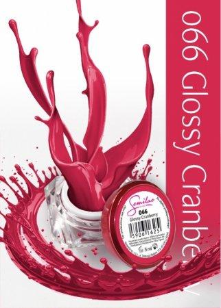 Żel kolorowy Semilac UV Gel, 066 Glossy Cranberry, 5ml - krótka data ważności (10.2020)