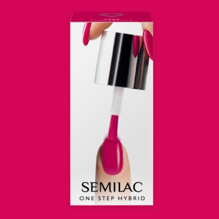 Semilac One Step Hybrid, lakier hybrydowy, 5ml, S685 Pink Purple