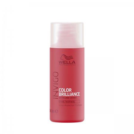 Wella Invigo Color Brilliance, szampon do włosów farbowanych, normalnych i cienkich, 50ml