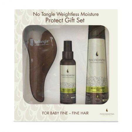 Macadamia Weightless Moisture, zestaw do pielęgnacji cienkich włosów