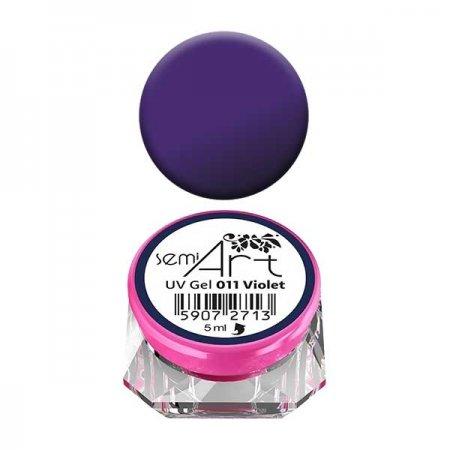 Żel do zdobień Semilac Semi-Art 011 Violet, 5ml - krótka data ważności (12.2019)