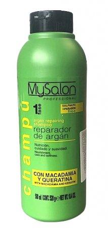 My Salon Professional Argan, regenerujący szampon z olejkami, 500ml