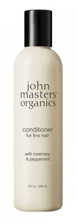 John Masters Organics, odżywka do włosów cienkich, Rozmaryn i Mięta, 236 ml