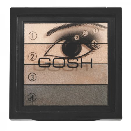 Gosh Smokey Eyes Palette, paleta cieni do powiek, 8g