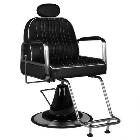 Fotel barberski Gabbiano Luca, czarny