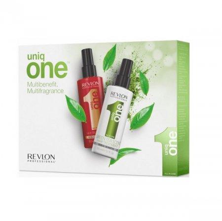 Revlon Uniq One Duo Pack, odżywka classic+odżywka z zieloną herbatą, 150ml+150ml