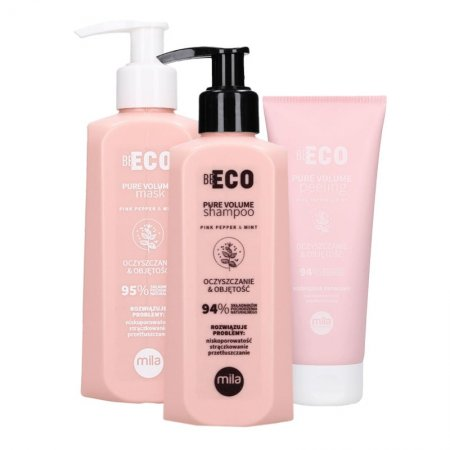 Mila Professional Be Eco Volume, zestaw nadający objętość, 250ml + 250ml + 200ml