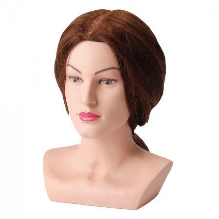Efalock, główka treningowa Mona z ramionami, 40-45cm, 100% naturalne włosy