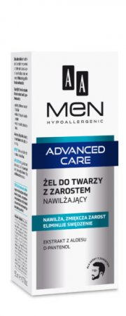 AA MEN Advanced Care, żel do twarzy z zarostem nawilżający, 50ml