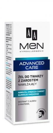 AA MEN Advanced Care, żel do twarzy z zarostem nawilżający, 50ml