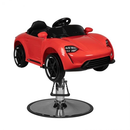 Fotel fryzjerski dziecięcy Gabbiano, samochód czerwony