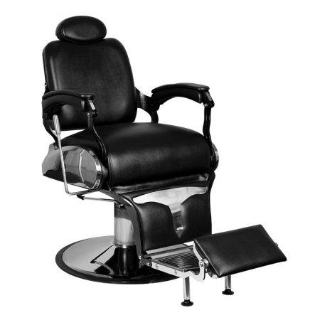 Fotel barberski Gabbiano Gianni, czarny