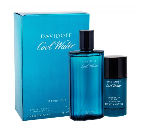 Davidoff Cool Water, zestaw: Edt 125 ml + Deostick 75 ml (M)