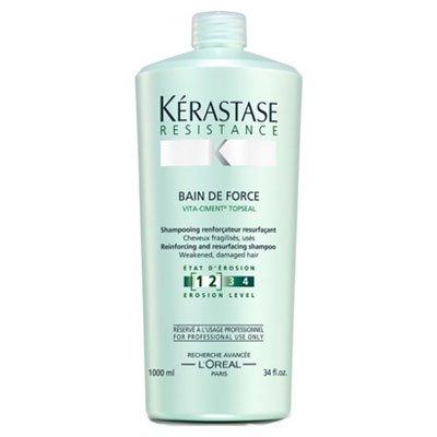 Kerastase Resistance Bain de Force, szampon, kąpiel wzmacniająca, 1000ml
