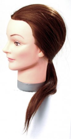 Efalock główka treningowa Thea, 40-45cm, 50% włosy naturalne, 50% włosy syntetyczne