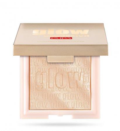 Pupa Glow Obsession, rozświetlacz w kamieniu, Light Gold