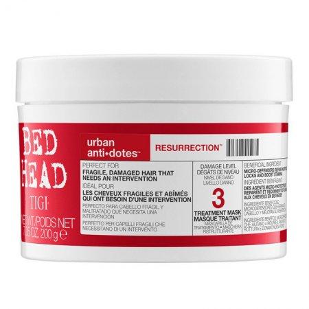 Tigi Bed Head Urban Anti+Dotes Resurrection, rekonstruująca maska do włosów mocno zniszczonych, 200g