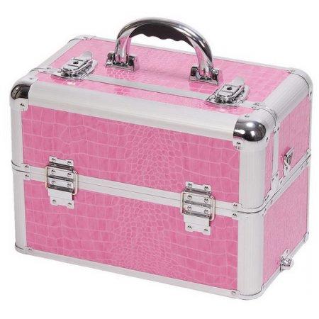 Efalock Pink Beauty, kufer fryzjerski na narzędzia, różowy