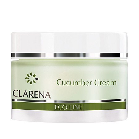 Clarena Eco Line, krem oczyszczająco-rozjaśniający z ogórkiem, 50ml