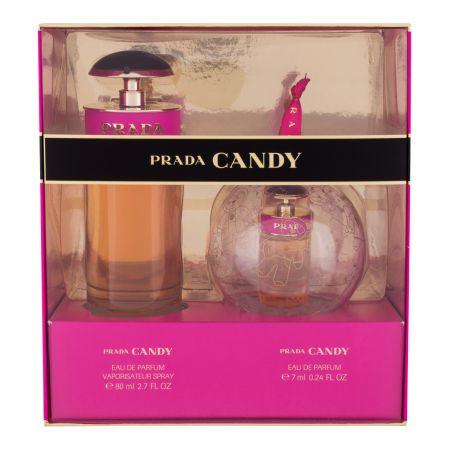 Prada Candy, zestaw: Edp 80 ml + Edp 7 ml (W)