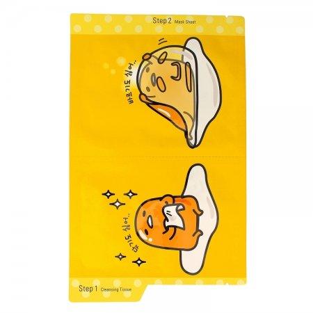 Holika Holika Gudetama, zestaw: chusteczka pielęgnacyjna + maska na płachcie