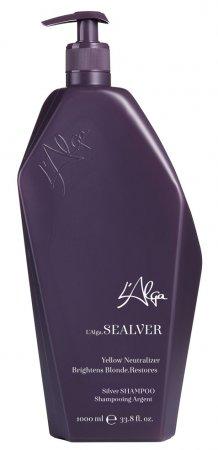 L`Alga Sealver, odżywczy szampon neutralizujący żółte tony, 1000ml