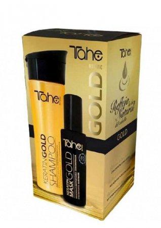 Tahe Botanic Gold, zestaw do włosów rozjaśnianych, szampon + maska, 300ml + 125ml